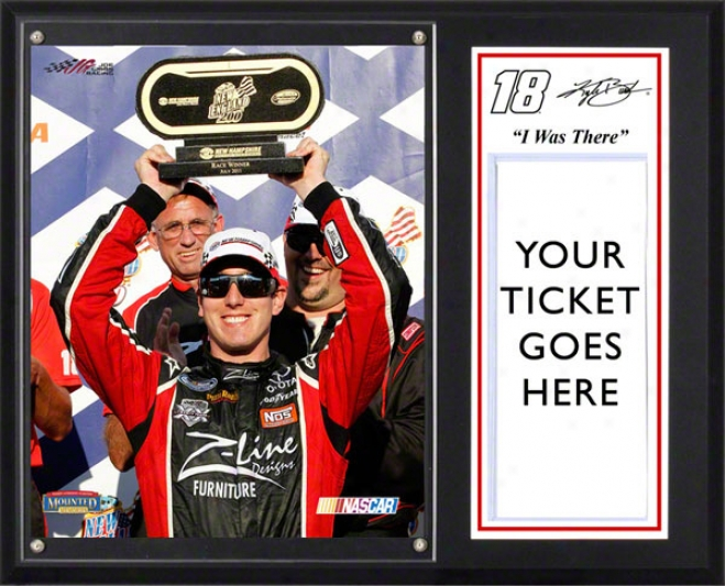 Kyle Busch Sublimated 12x15 Plaue  Details: Nascar 10t0h Win &quoti Was There&quot