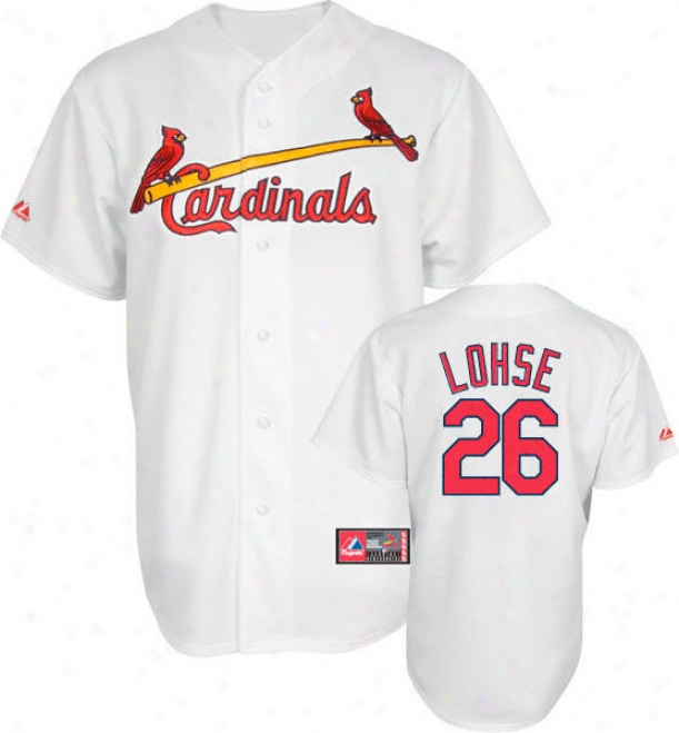 Kyle Lohse Jerqey: Adult Majestic Home White Replica #26 St. Louis Cardinals Jdrsey