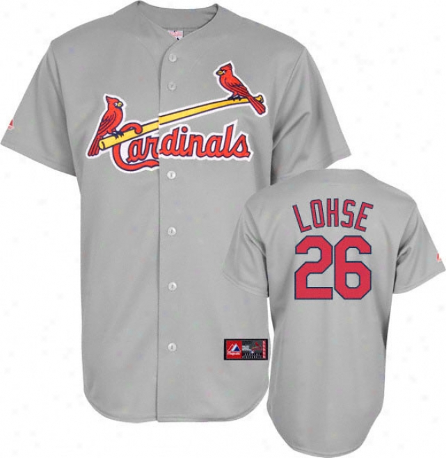Kyle Lohse Jereey: Adult Majestic Path Grey Replica #26 St. Louis Cardinals Jerseey