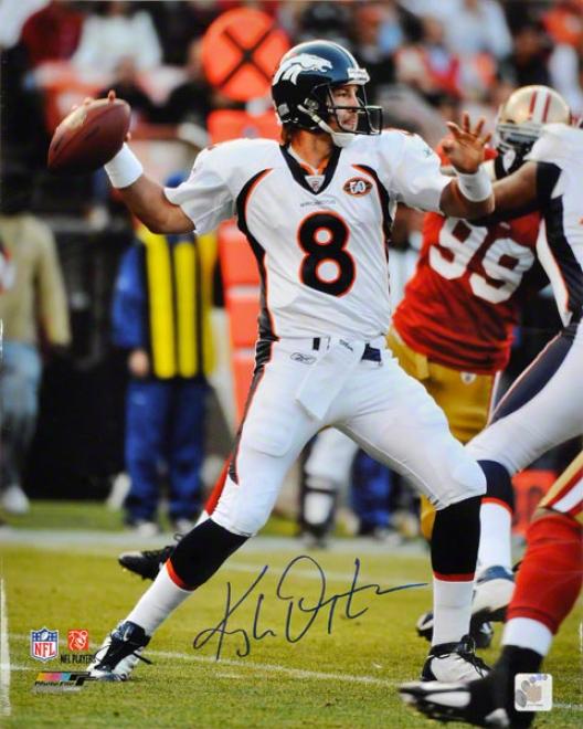 Kyle Orton Autographed 16x20 Photograph  Details: Denver Broncos