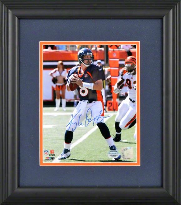 Kyle Orton Fraed Autographed 8x10 Photograph  Details: Denver Broncos