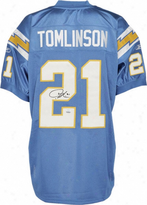 Ladainian Tomlinson Autographed Jersey  Details: San Diego Chargers, Reebok, Authentic 2006 Powder Blue