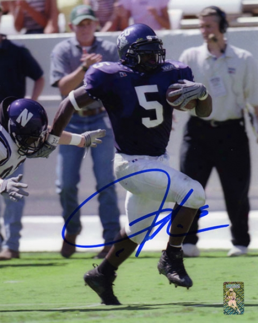Ladainian Tomlinson Autographed Photograph  Particulars: Tcu Horned Frogs, 8x10