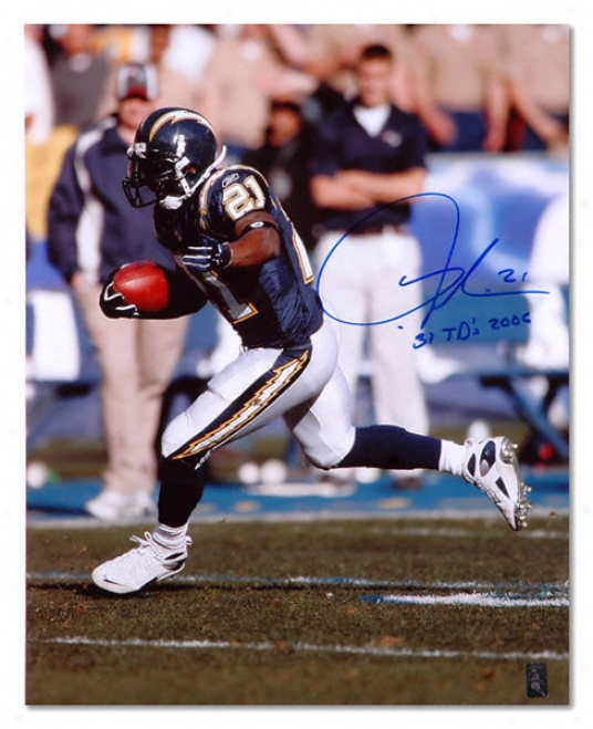 Ladainian Tomlinson San Diego Chargers Autographed 16x20 Photoraph With 31 Touchdowns 2006 Inscription