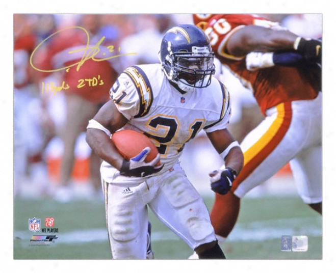 Ladainian Tomlinson San Diego Chargers Autographed 16x20 Photograph With 113 Yards 2 Touchdowns Inscription