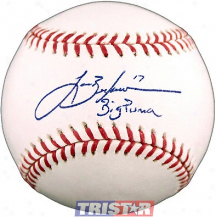 Lance Berkman Autographed Baseball With Big Puma Inscrription