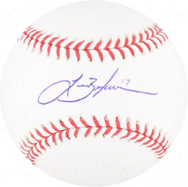 Lance Beriman Autographed Baseball