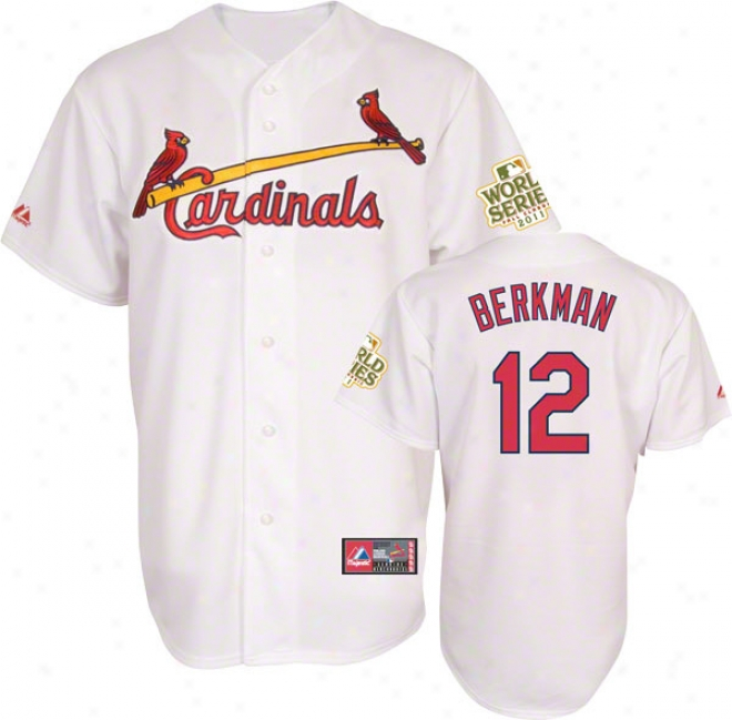 Hurl Berkma nJersey: St. Louis Cardinals #12 Home White Replica Jersey With 2011 World Series Participant Patch
