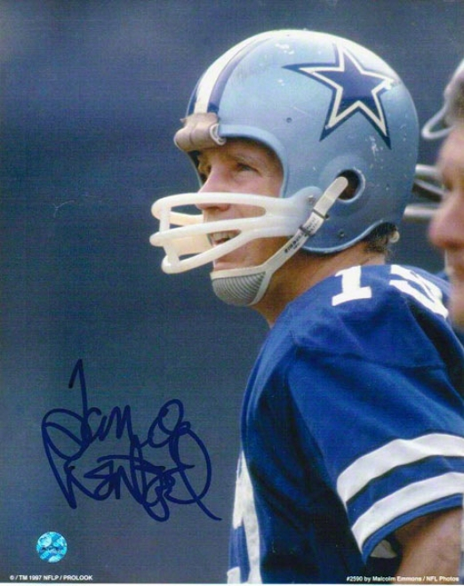 Spear Rentzel Dallas Cowboys Autographed 8x10 Photo On The Sideline