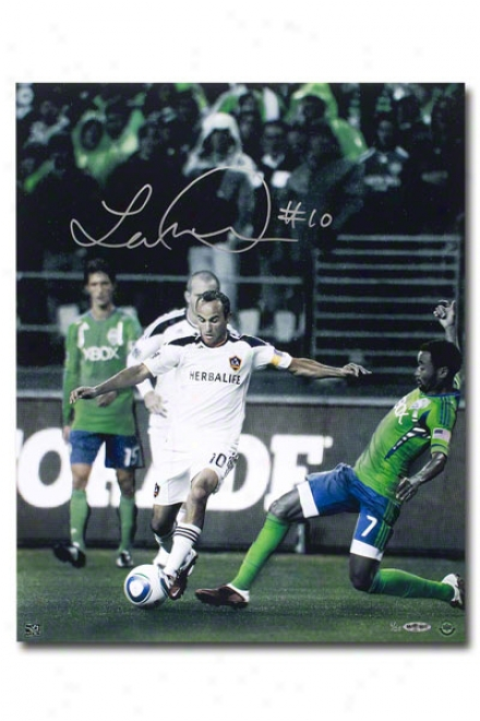 Landon Donovan Los Angeles Galaxy Autographed Colors Of The Game 16x20 Unframed Photograph