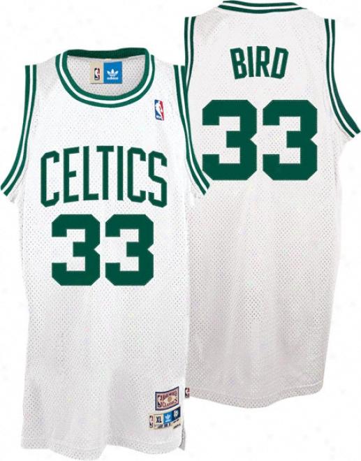 Larry Bird Jersey: Adidas White Throwback Swingman #33 Boston Celticq Jersey