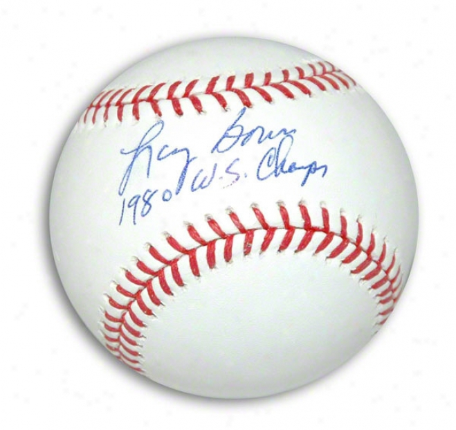 Larry Bowa Autographed Mlb Baseball Inscribed 1980 Ws Champs