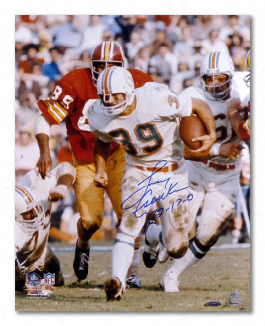 Larry Csonka Miami Dolphins - With Ball - Autographed 16x20 Photograph