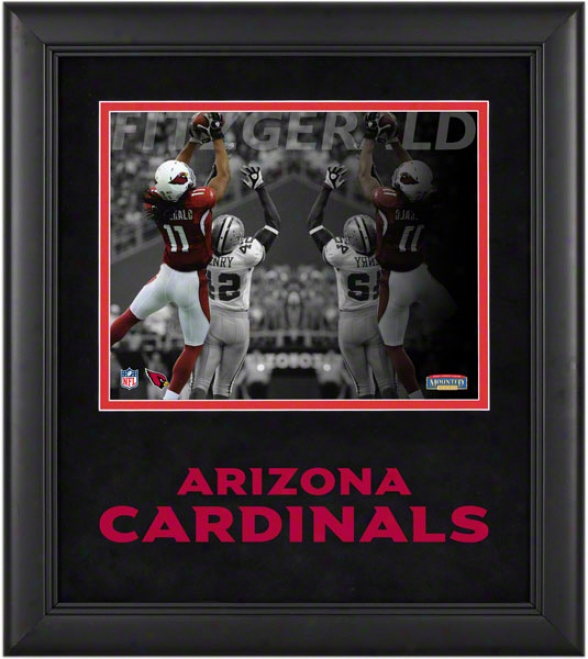 Larry Fitzgerald Framed Photograph  Details: 8x10, Reflections, Arizona Cardinals