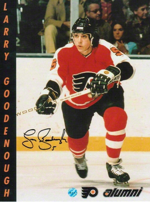 Larry Goodenough Autographed Philadelphia Flyers 8x10 Photos