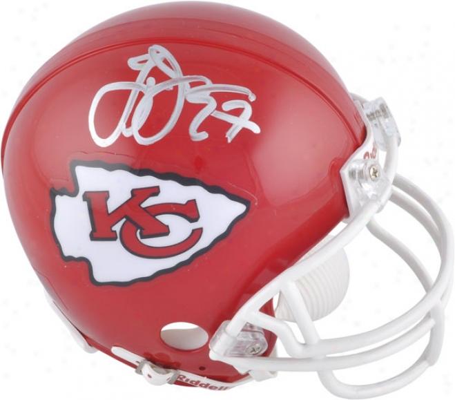 Larry Johnson Kansas City Chiefs Autographsd Mini Helmet