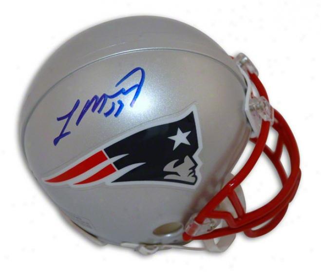 Laurence Maroney New England Patriots Autographed Mini Helmet