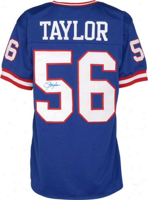 Lawrence Taylor New York Giants Autographed Livid Jersey