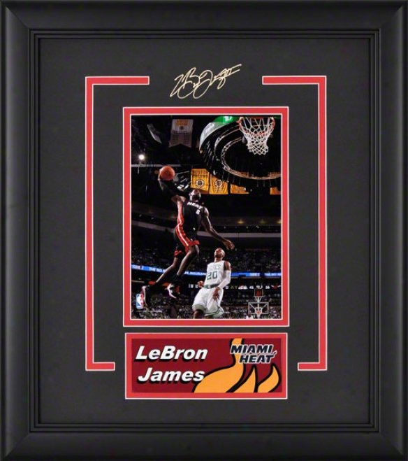 Lebron James Framed Photograph  Details: Miami Contest, Nameplate