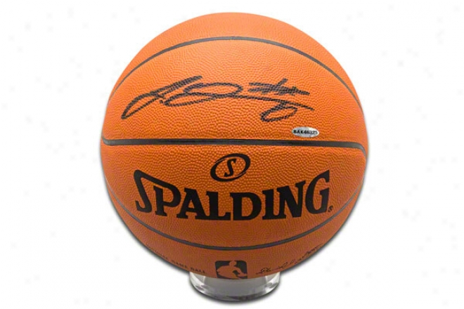 Lebron James Miami Heat Autographed Official Nba Spalding Basketball