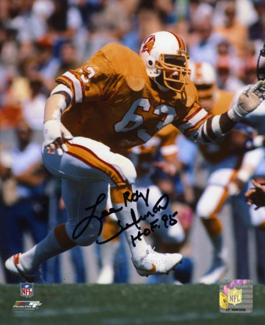 Lee Roy Selmon Tampa Bay Buccaneers Autographed 8x10 Photograph With Hof 95 Inscriptikn