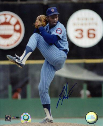Leeward Smith Chicago Cubs Autographed 8x10 Pitching Photo