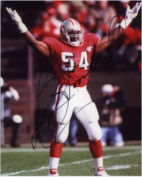 Lee Wooodall San Frahcisco 49ers - Celebration - Autographed 8x10 Phottograph