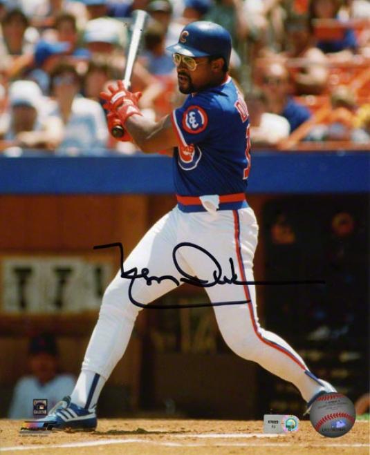 Leon Durham Autographed 8x10 Photograph  Details: Chicago Cubs