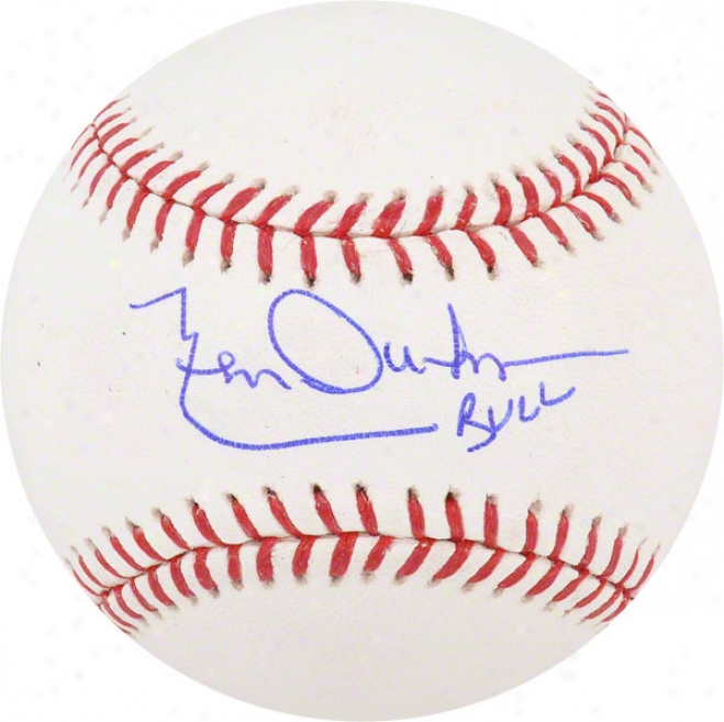 Leon Durgam Autographed Baseball  Details: Chicago Cubs, With &quotbull&quot Inscription