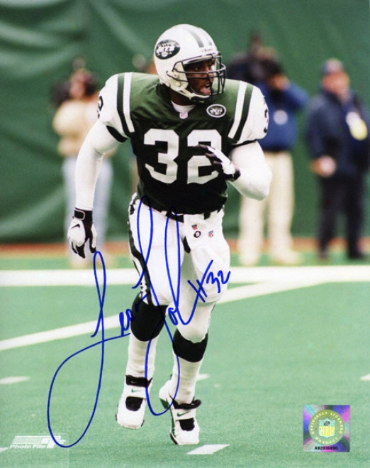 Leon Johnson New York Jets - Running - 8x10 Autographed Photograph