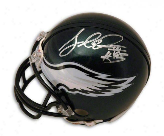 Leonard Weaver Autographed Philadelphia Eagles Mnii Helmet