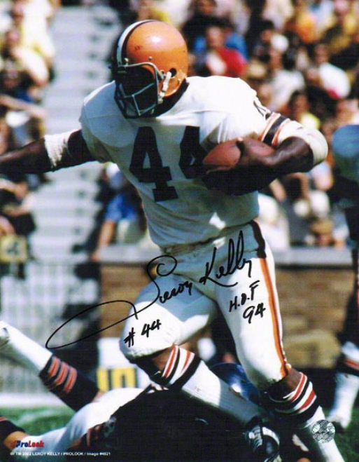 Leroy Kelly Autographed Cleveland Browns 8x10 Photo