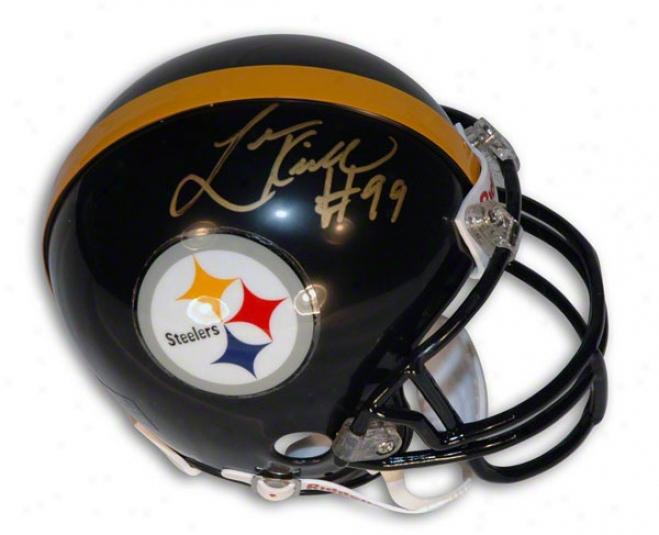 Ldvon Kirkland Autographed Pittsburgh Steelers Mini Helmet