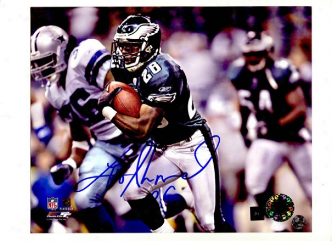 Lito Sheppard Autographed Philadelphia Eaglee 8x10 Photo