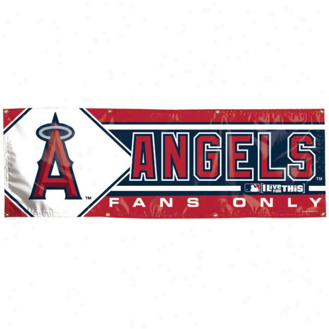 Los Angeles Angels Of Anaheim 2x6 Vinyl Banner