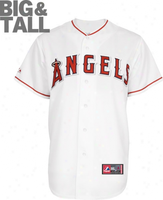 Los Angeles Angels Of Anaheim Big & Tall Home White Mlb Replica Jersey