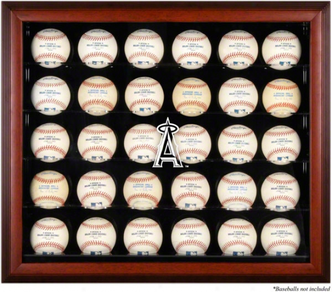Los Angeles Angels Of Ananeim Framed 30-ball Logo Display Case