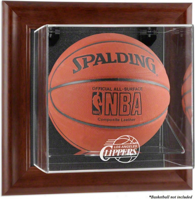 Los Angeles Clippers Framed Wall Mounted Logo Basketball Display Cqse