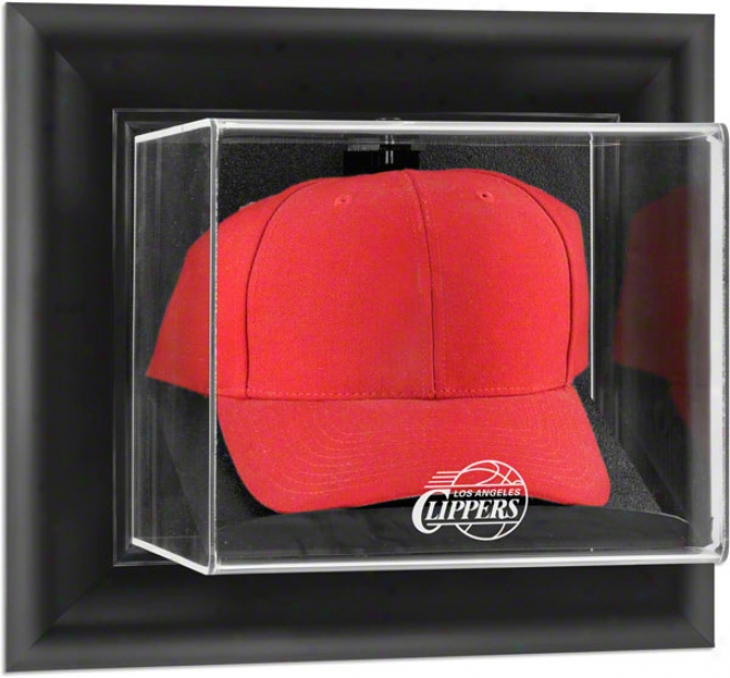 Los Ang3les Clippers Framed Wall Mounted Logo Cap Display Box
