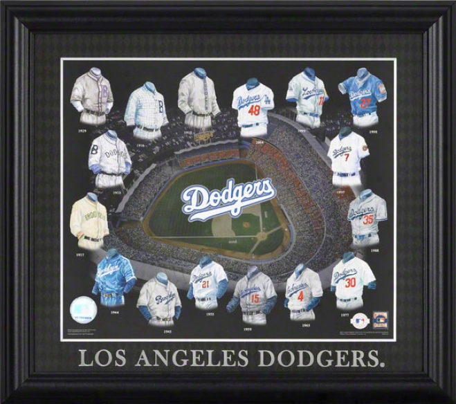 Los Angeles Dodgers 13x15 Framed Impression  Details: Evolution