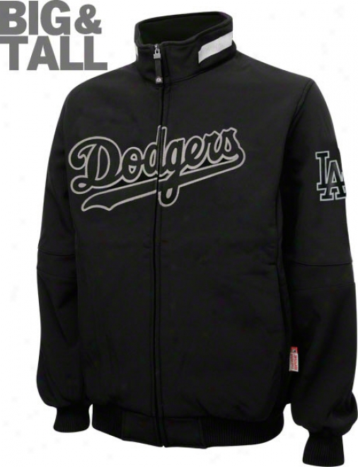 Los AngelesD odgers Big & Tall Authentic Collection Black Therma Base Triple Peak Premier Jacket