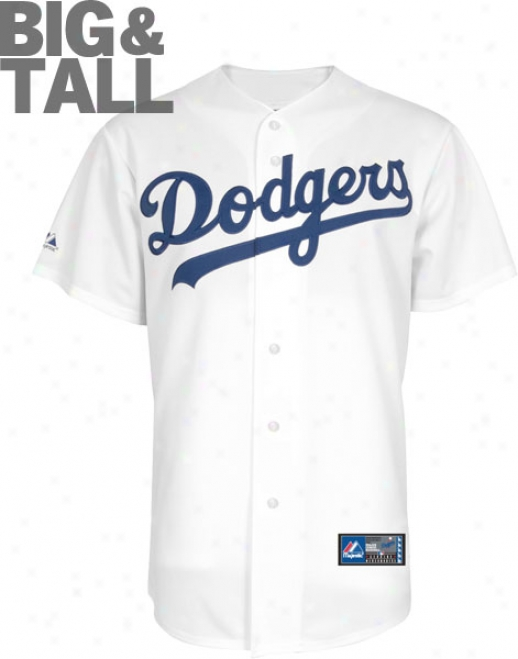 Los Angeles Dodgers Big & Tall Home White Mlb Replica Jersey