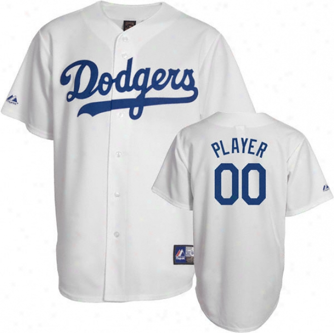 Los Angeles Dodgers Cooperstown White -any Player- Replica Jersey