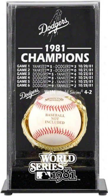 Los Angeles Dodgers Display Case  Details: 1981, World Series Champs