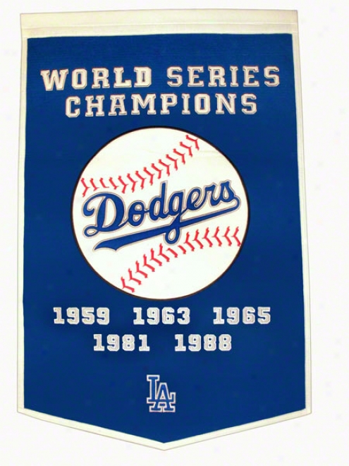 Los Angeles Dodgers Dynasty Flag