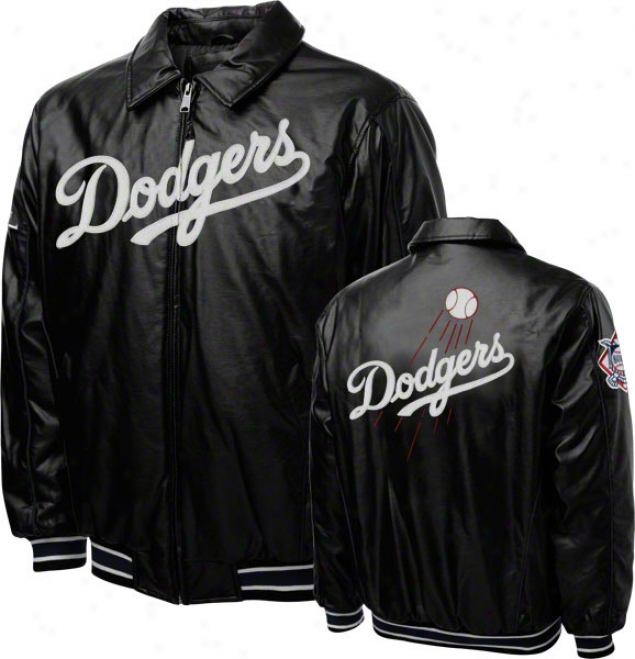 Los Angeles Dodgers Faux Leather Full-zip Varsity Jacket