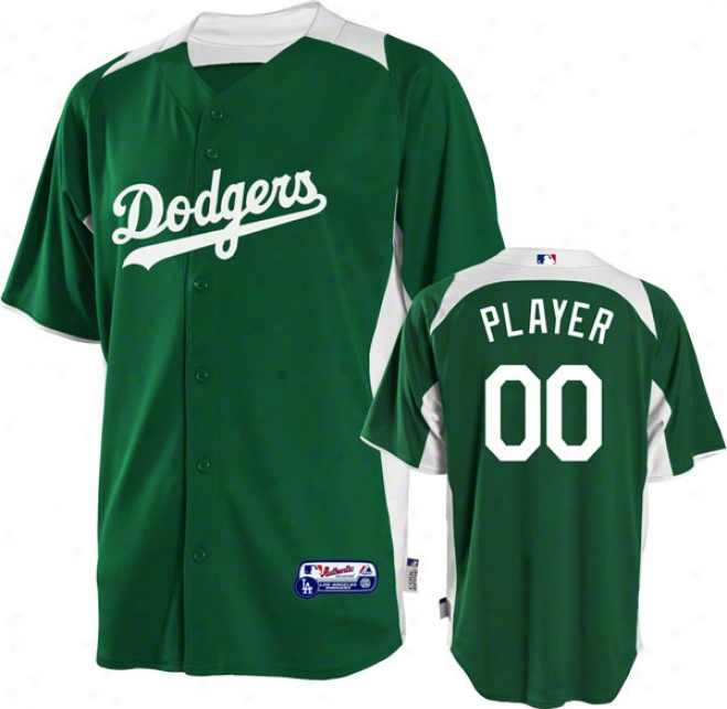 Los Angeles Dodgers Jersey: Any Player Authentic Kelly Green On-field Batting Acting out Jersey