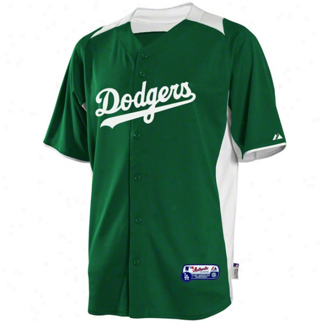Los Angeles Dodgers Jersey: Auhtentic Kelly Green On-field Batting Practice Jersey