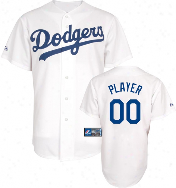 Los Angeles Dodgers -personalized By the side of Your Name- Home Mlb Replica Jersey