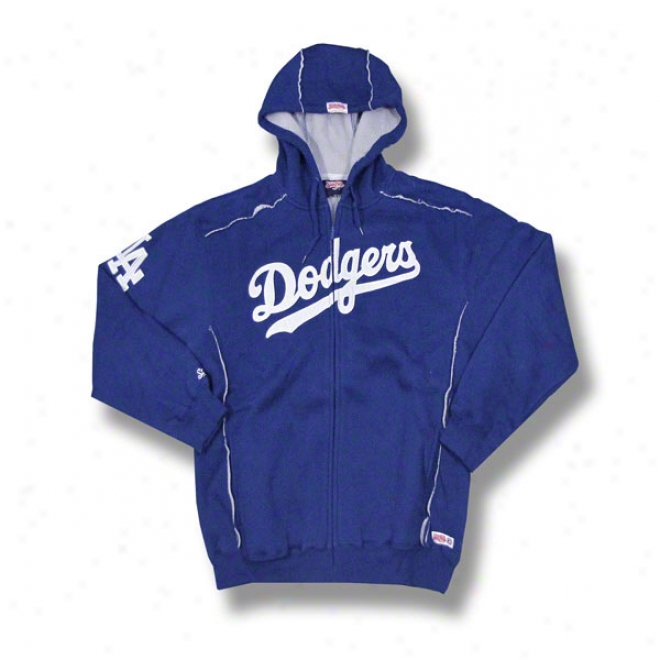 Los Angeles Dodgers Royal Grand Slam Full-zip Sherpa Lined Thermal Hooded Jacket